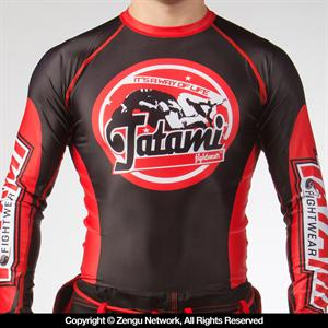 Tatami Fightwear GenX Black and Red Long Sleeve Rashguard